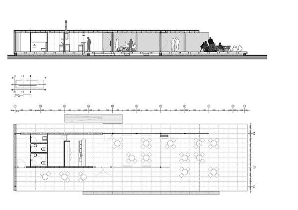Planos del café del puerto de Alicante